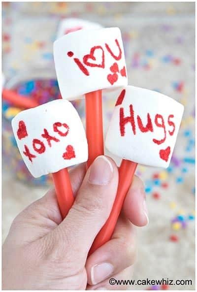 Easy Valentine's Day Marshmallow Pops