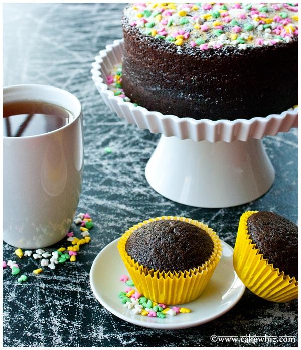 Chocolate cake & cupcakes