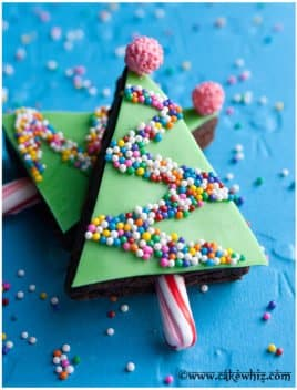 Easy Christmas Brownies Recipe (Christmas Tree Brownies)