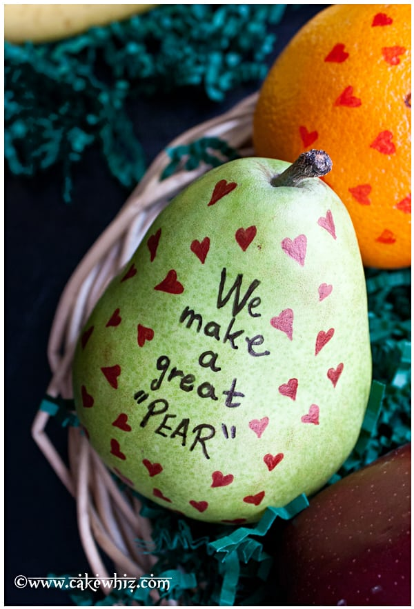 Valentine's day fruits with messages
