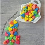 Homemade jumbo heart sprinkles