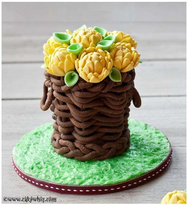 How To Make A Fondant Basket Cakewhiz