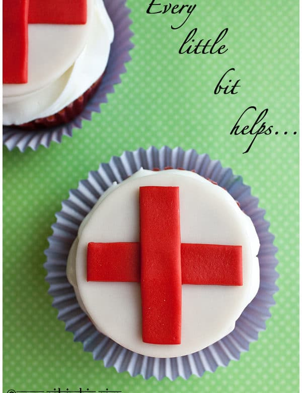 red cross cupcakes