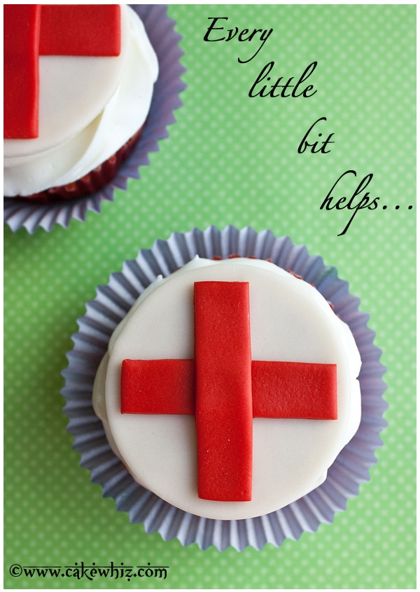 Red Cross cupcakes for a good cause