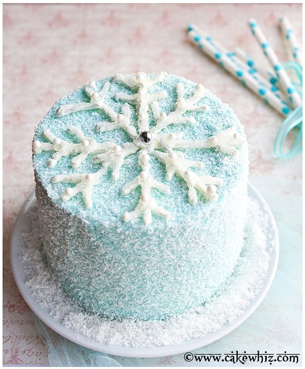 Chocolate Snowflake Cake