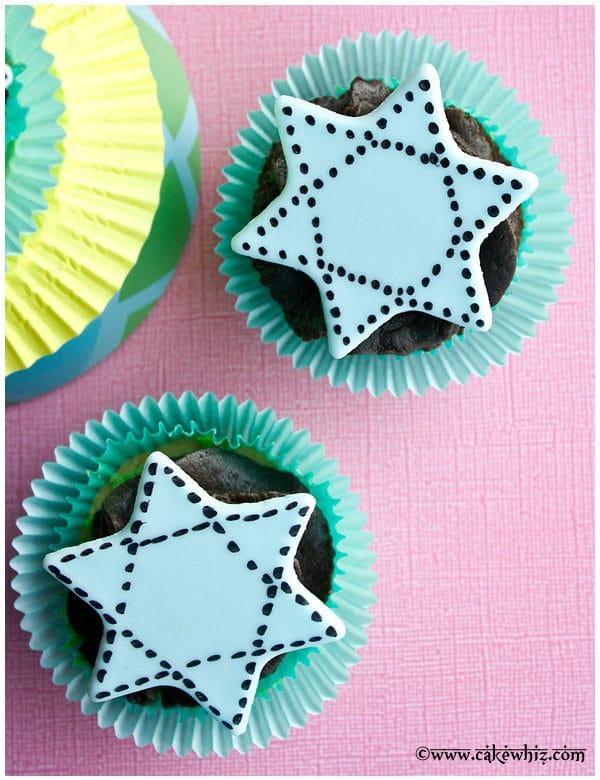 star of david cupcakes