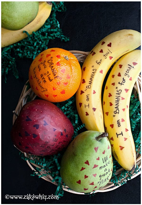Valentine's Day Fruits with Messages 1