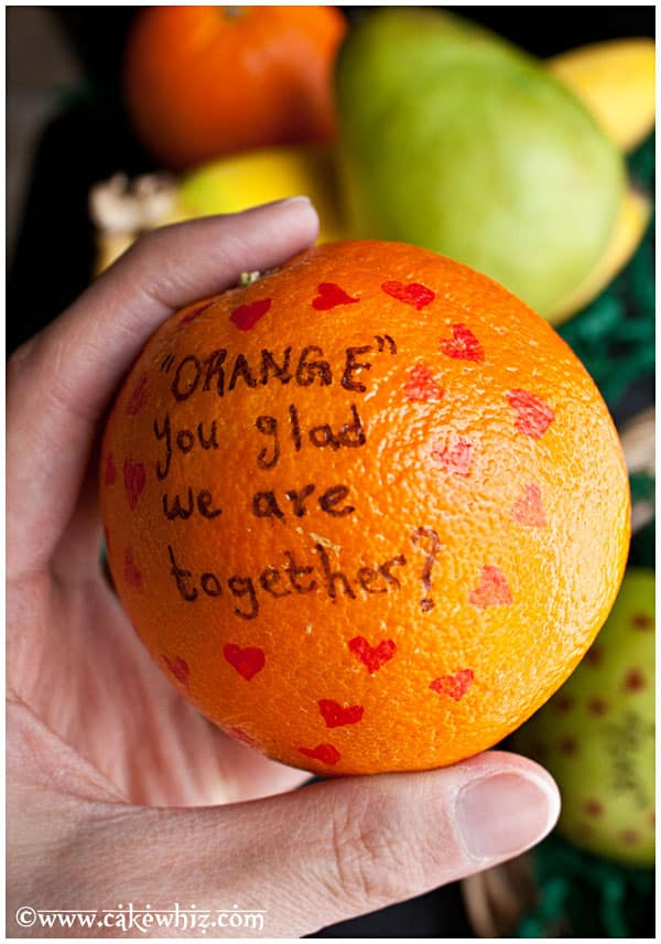 Valentine's Day Fruits with Messages 4