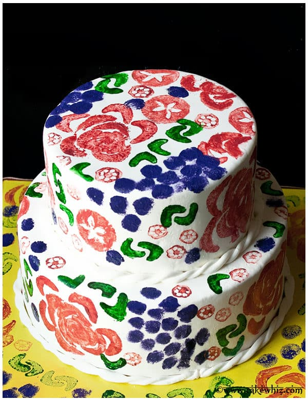 vegetable stamp cake
