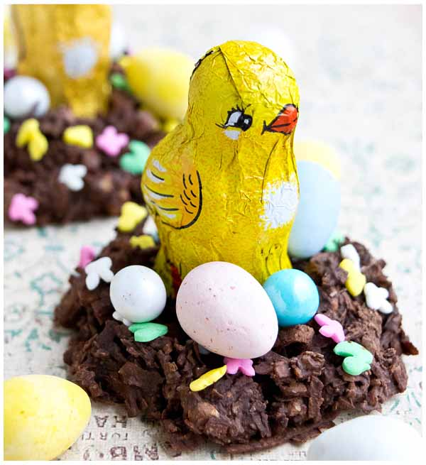 chocolate coconut easter bird nests