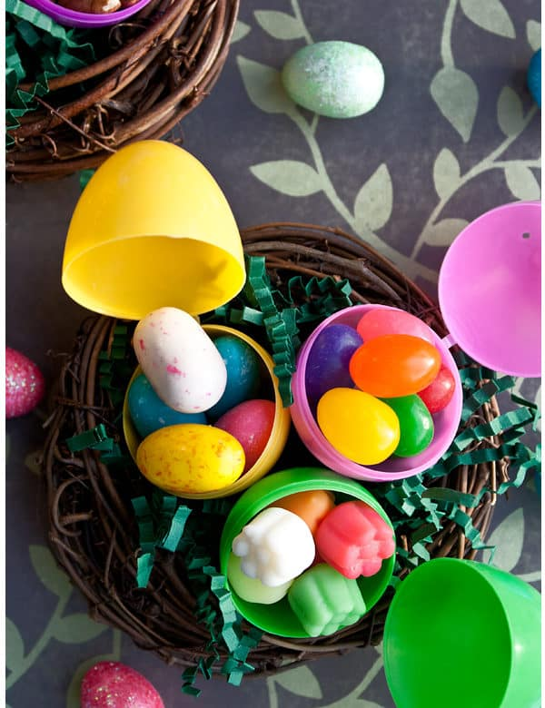 some ideas for filling plastic easter eggs