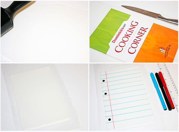 How to Make Fondant Sheet of Paper- Step By Step Instructions