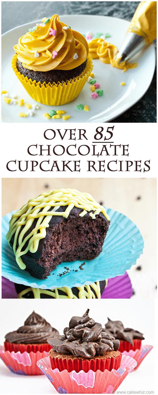 Roundup of chocolate cupcake recipes
