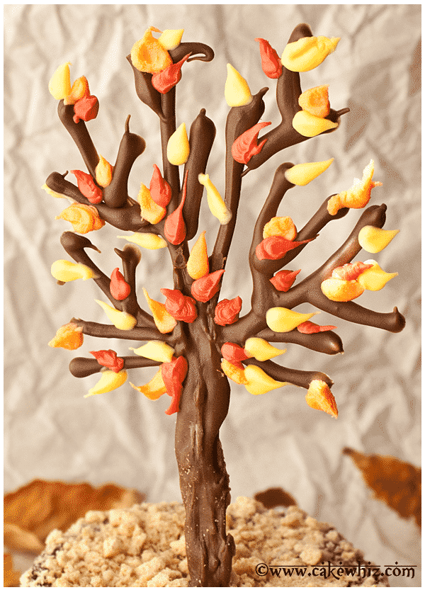 fall themed chocolate tree cake 2