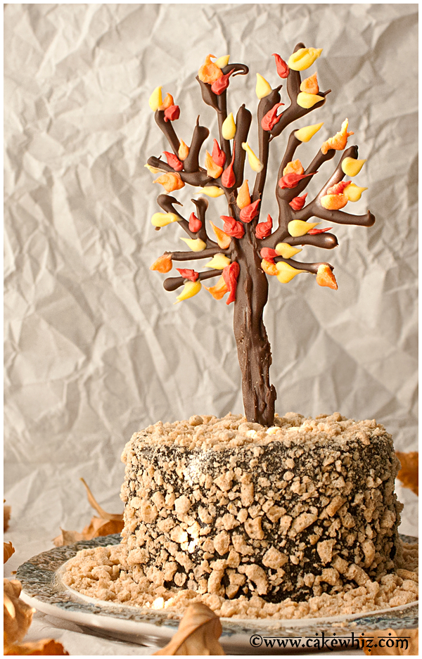 fall themed chocolate tree cake 4