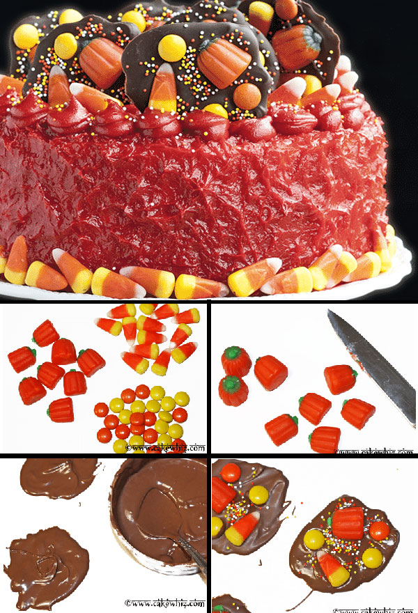 How to Make Halloween Candy Cake- Step by Step Tutorial