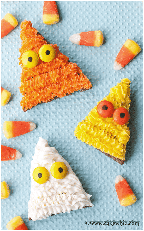 candy corn monster cookies 1