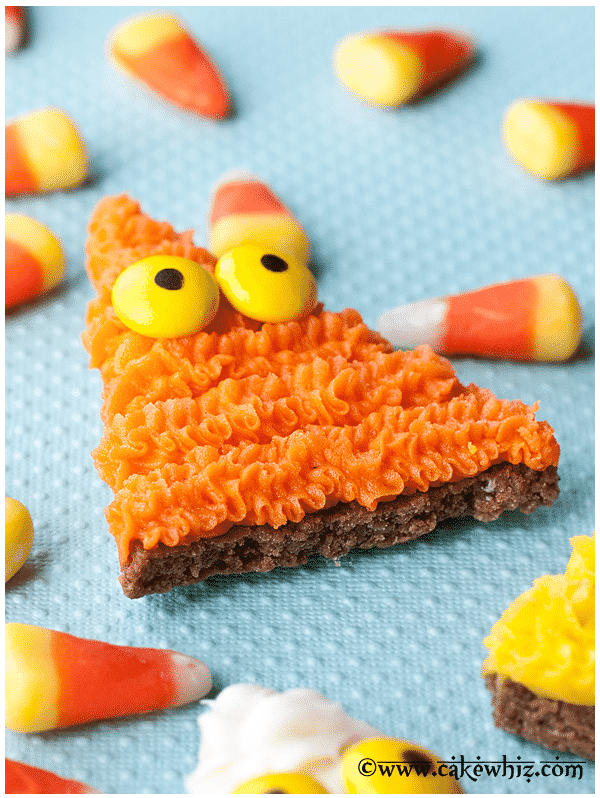 To make these candy corn monster cookies, you will need the following ...