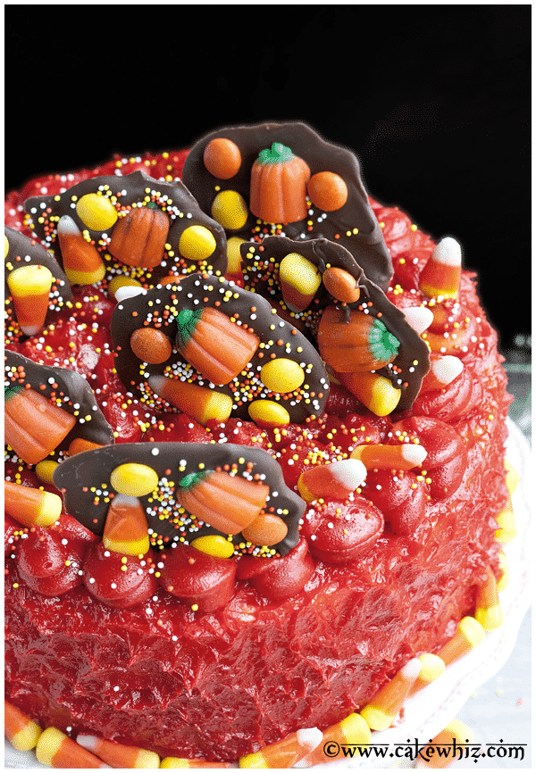Easy Halloween Candy Cake for Kids and Adults