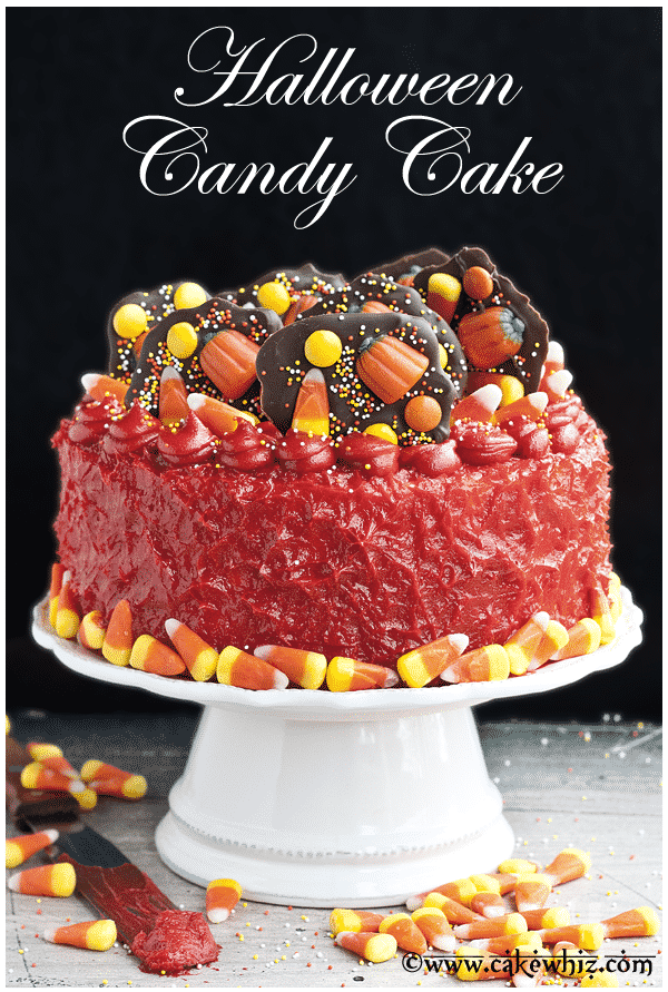 Halloween Candy Cake Recipe and Tutorial