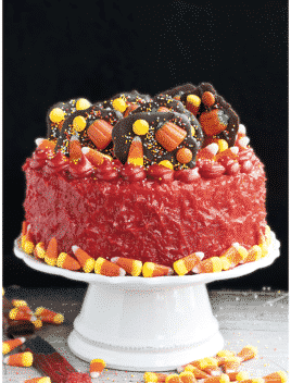 Easy Halloween Candy Cake