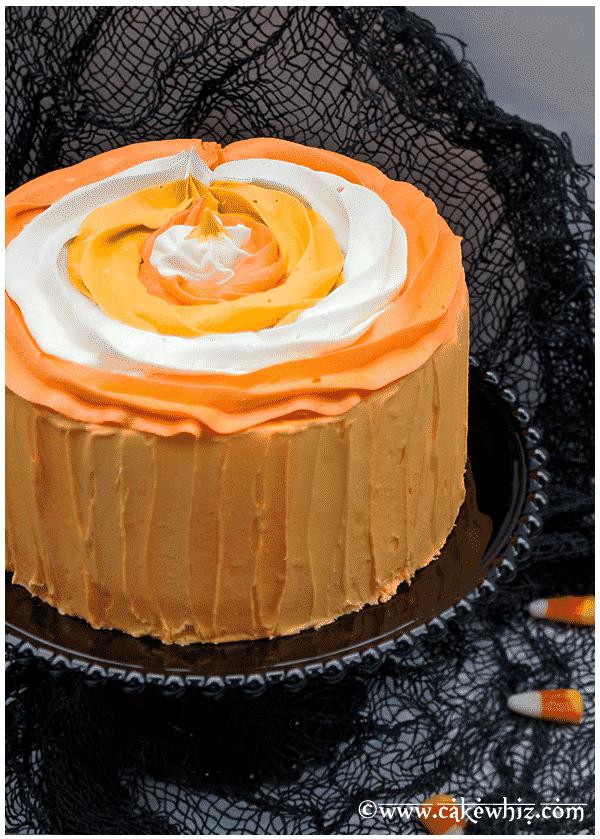 halloween candy corn cake 3
