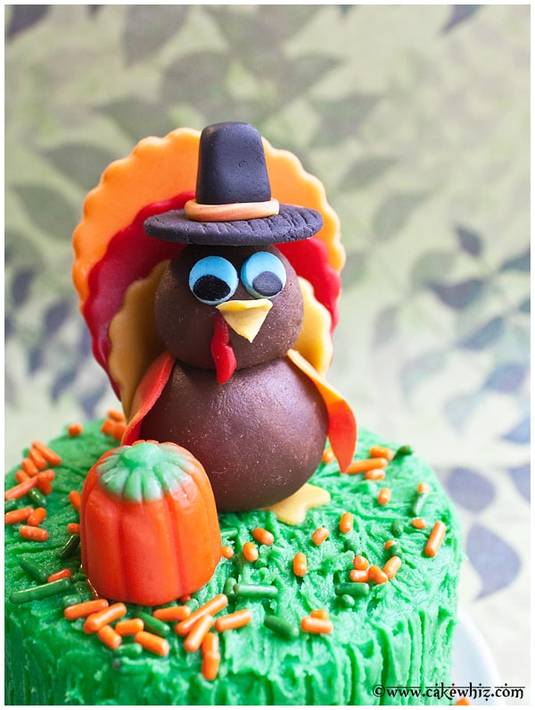 how to make a turkey cake topper