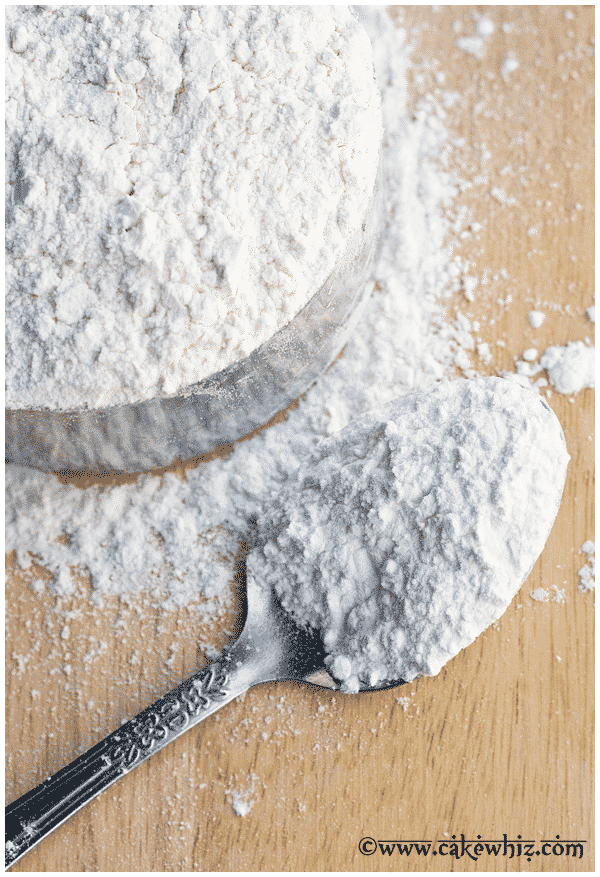 spoonful of homemade cake flour