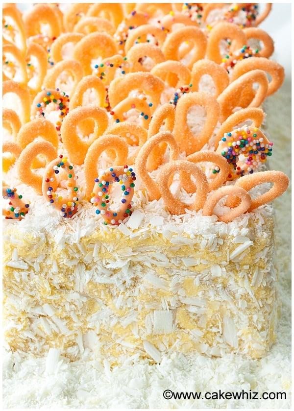 mango cake with mango frosting 6