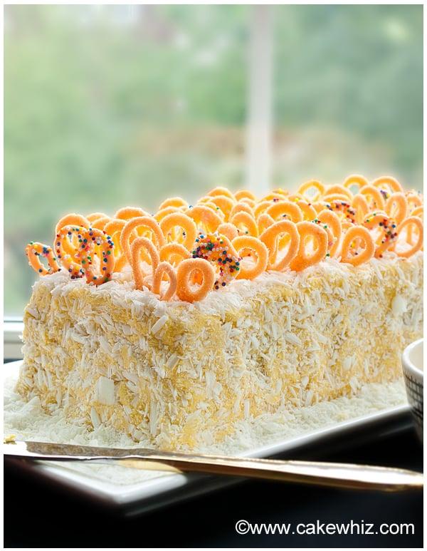 mango cake with mango frosting 9