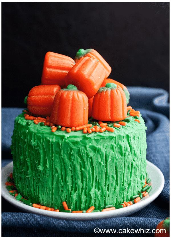 pumpkin cake with pumpkin candies 5