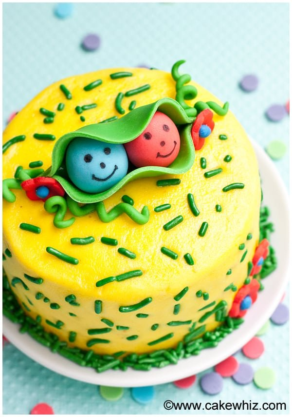 Two peas in a pod cake - Cakewhiz