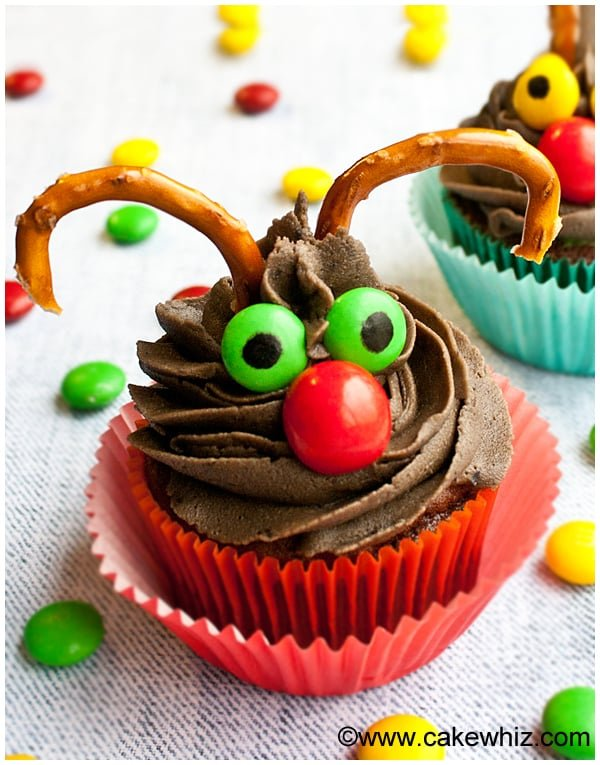 easy rudolph cupcakes 1