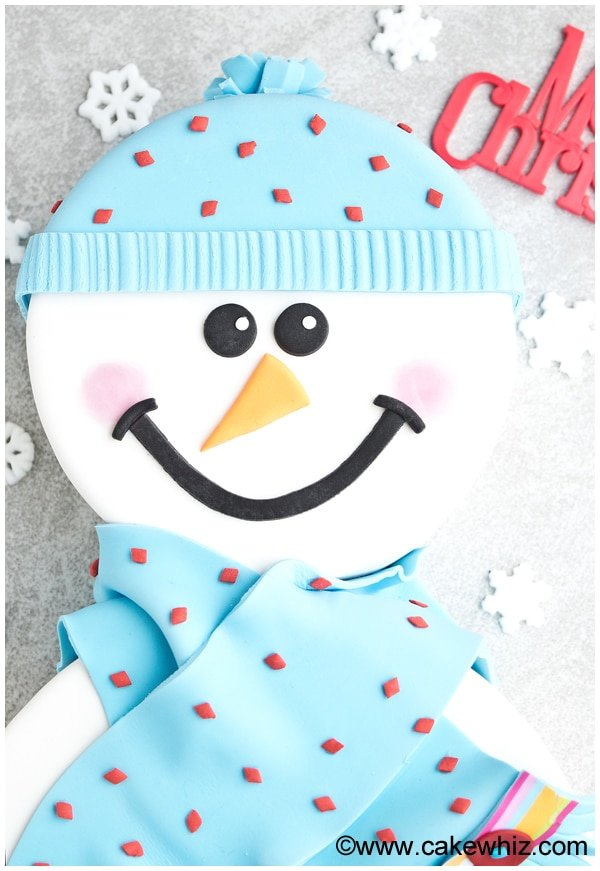 how to make a snowman cake 3