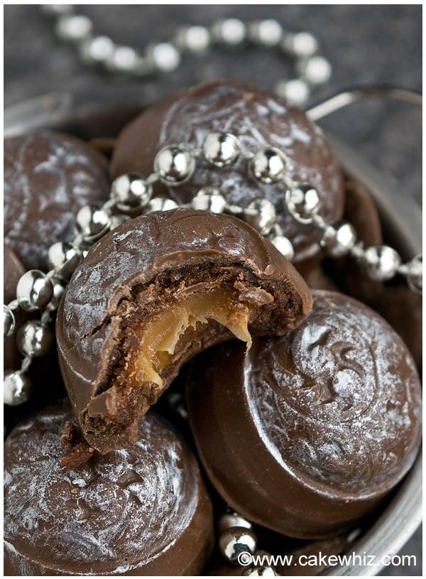 mocha caramel cookie dough truffles 13