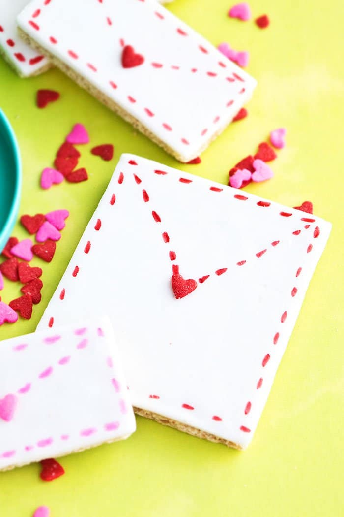 Easy Homemade Valentine Cookies Placed on Yellow Background
