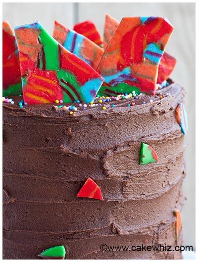 candy cane shards cake 25