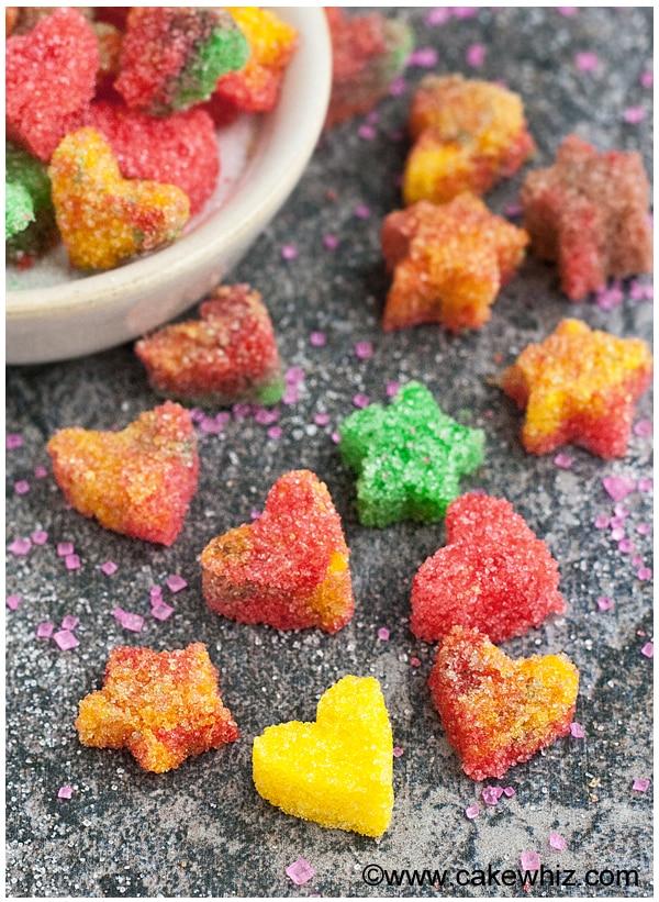 how to make sugar hearts and sugar stars 14