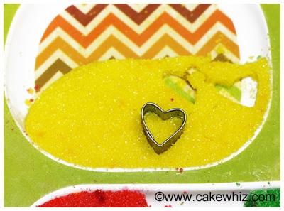 how to make sugar hearts and sugar stars 7