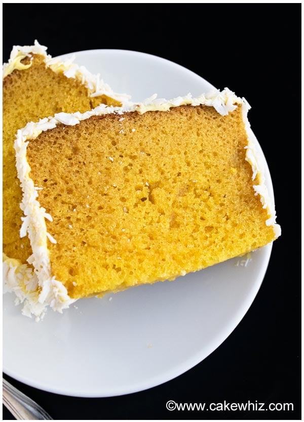 mango cake with mango frosting 02