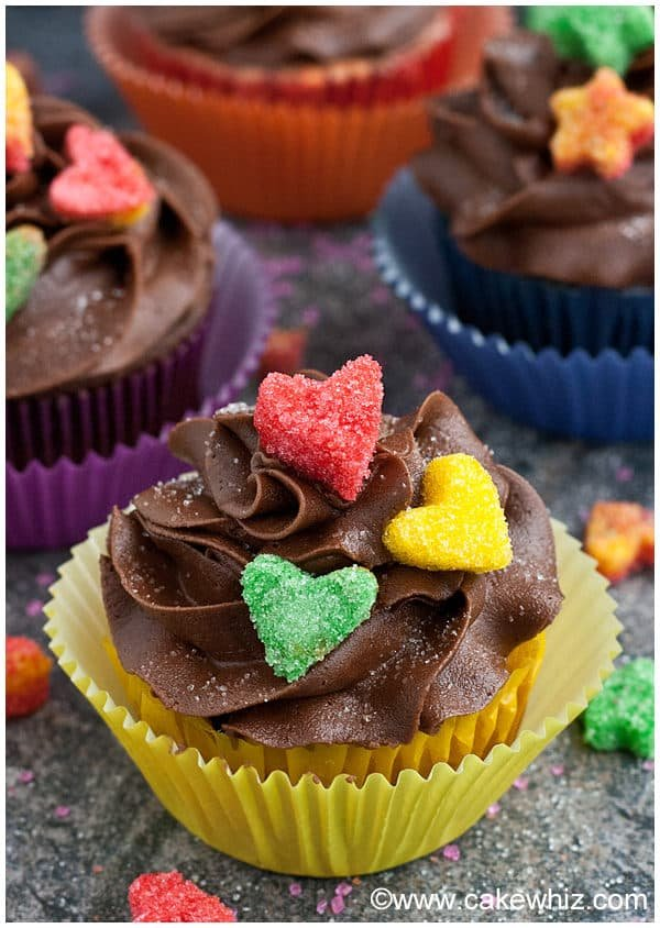 Chocolate Cupcakes with Sugar Decorations