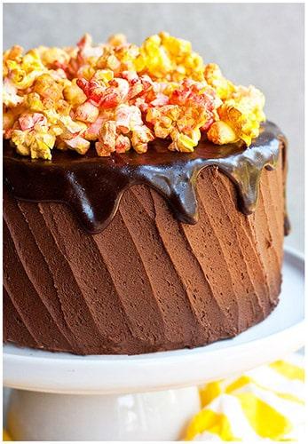 Chocolate Popcorn Cake Recipe