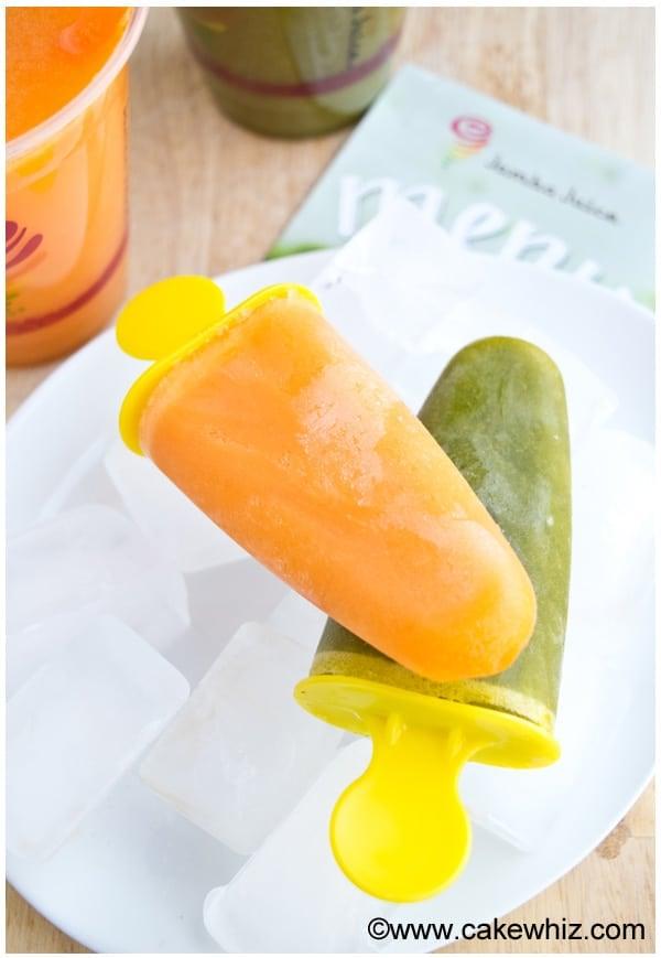 Easy juice popsicles 1
