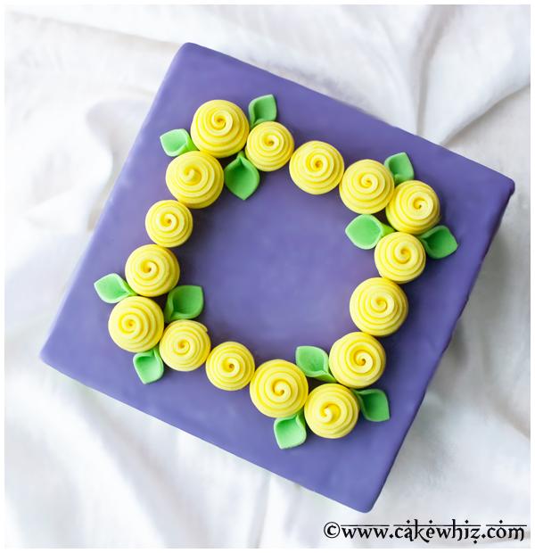 easy ribbon roses cake