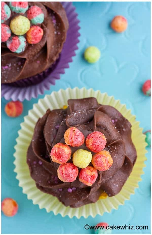 trix cereal flower cupcakes 1