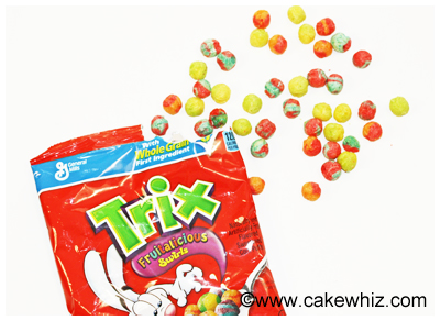 trix cereal flower cupcakes 12