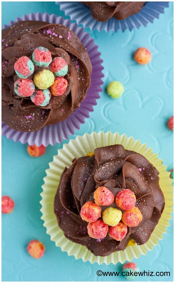 trix cereal flower cupcakes 5