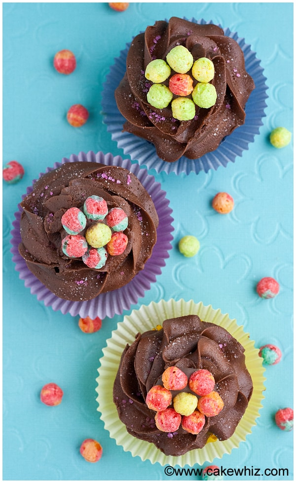 trix cereal flower cupcakes 6
