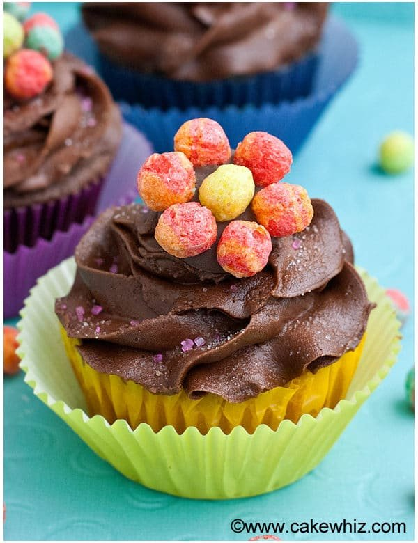 trix cereal flower cupcakes 7