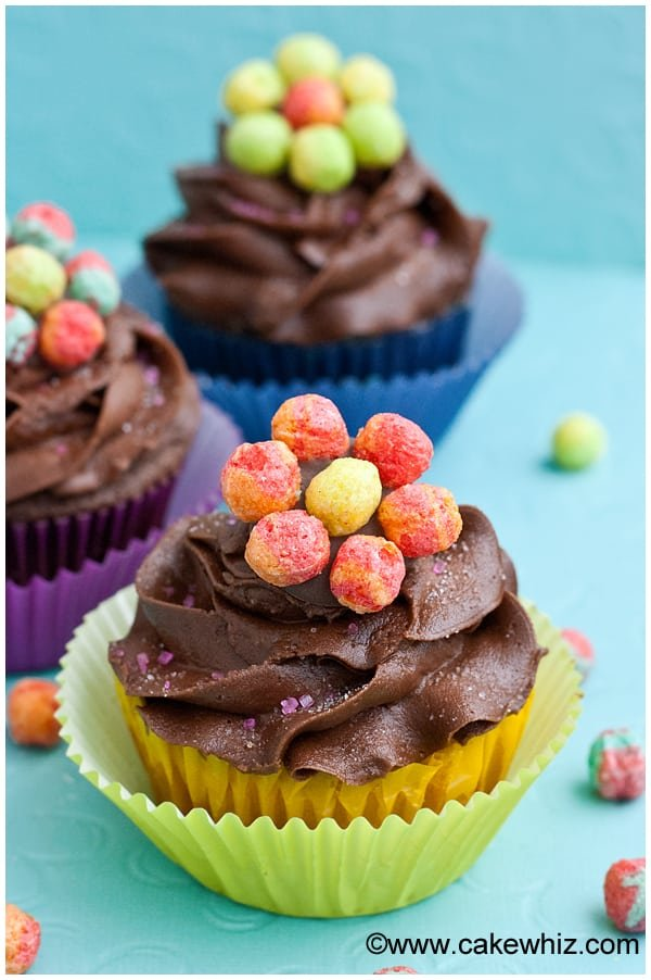 trix cereal flower cupcakes 8